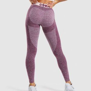 Gymshark Flex Leggings Dark Ruby Marl/Blush Nude